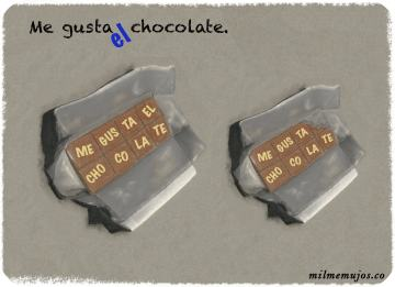"""me gusta chocolate""; frequent mistakes; common errors; Spanish learners; errores frecuentes; español lengua extranjera; ELE"