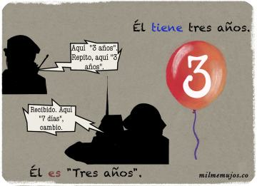 """es tres años""; frequent mistakes; common errors; Spanish learners; errores frecuentes; español lengua extranjera; ELE"