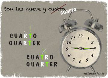 cuatro y cuarto; common errors; frequent mistakes; Spanish learners; ELE; español lengua extranjera; errores frecuentes