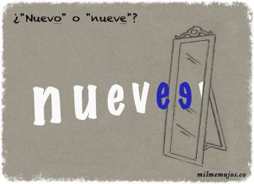 nuevo y nueve; common errors; frequent mistakes; Spanish learners; ELE; español lengua extranjera; errores frecuentes
