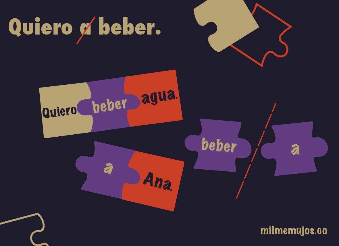 Quiero a beber; Spanish learners; frequent mistakes; errores frecuentes; español lengua extranjera; ELE