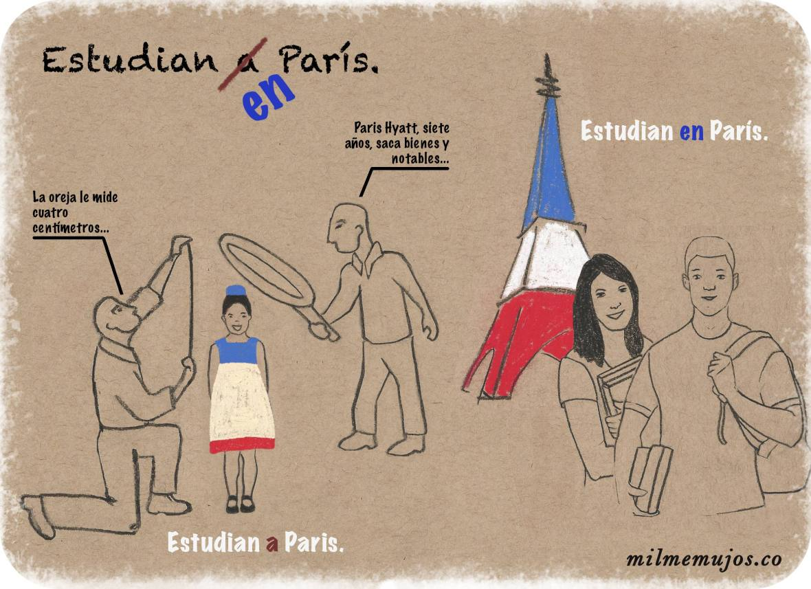 """estudian a París""; common errors; frequent mistakes; Spanish learners; errores frecuentes; español como lengua extranjera; ELE"