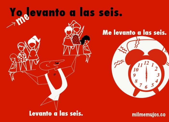 Levanto a las seis; common mistakes; Spanish learners; errores frecuentes; ELE; español como lengua extranjera