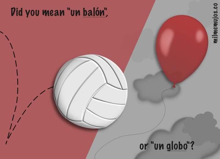 false cognates; baloon; balón; Spanish learners; ELE; errores frecuentes