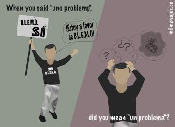 """la problema""; common errors; frequent mistakes; Spanish learners; español lengua extranjera; ELE; errores frecuentes"
