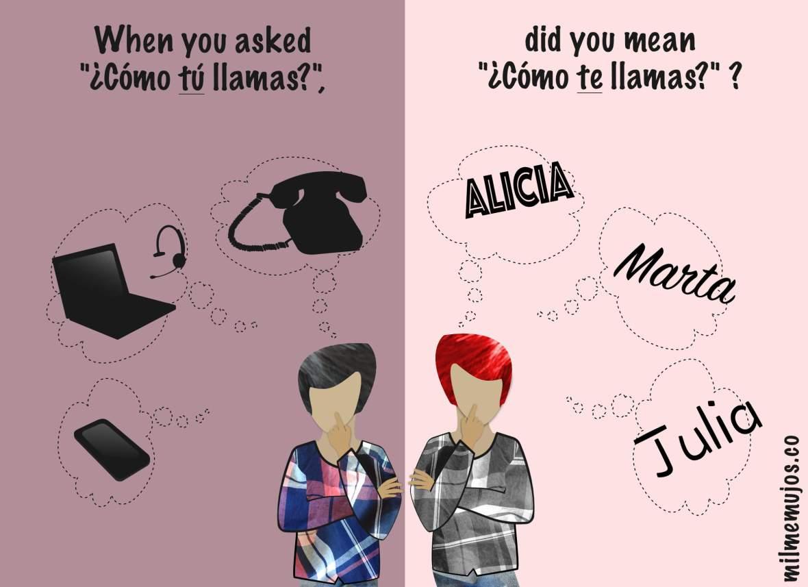 """¿Cómo tú llamas?""; common errors; Spanish learners; frequent mistakes; ELE; español lengua extranjera; errores frecuentes"