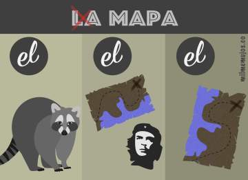 ELE; errores frecuentes; la mapa; frequent mistakes; Spanish learners